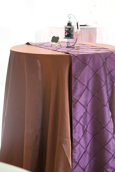 USING TABLECLOTHS ON COCKTAIL TABLES
