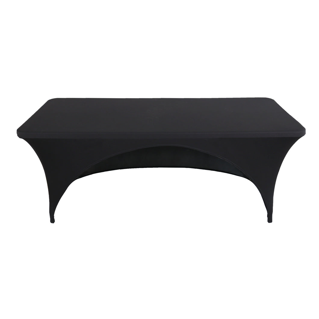 black tablecloth black  open back cocktail tablecloth