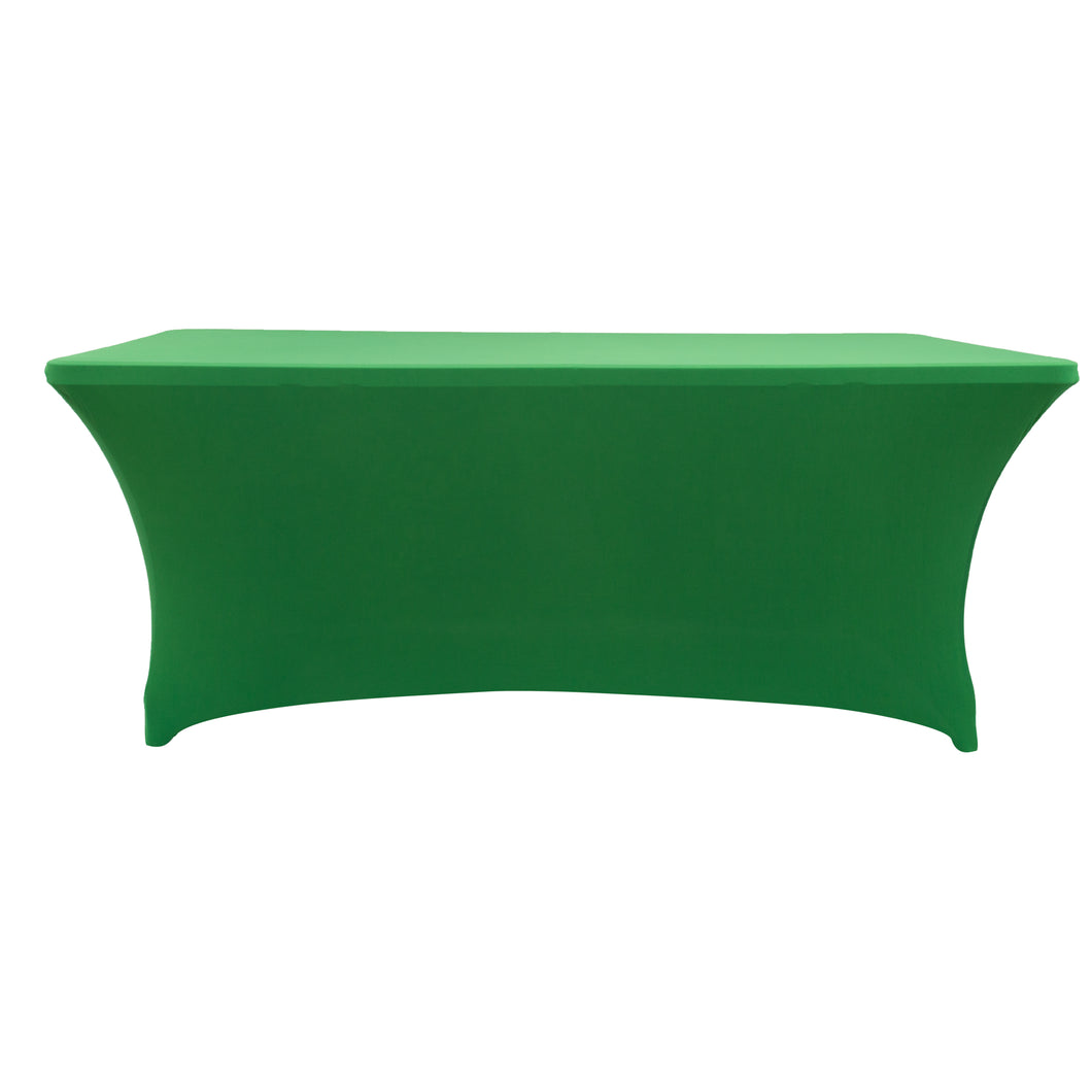 Green Rectangular Cocktail Tablecloth Stretch Spandex Table Cover for Bar, Wedding, Cocktail, Massage, Kitchen Table