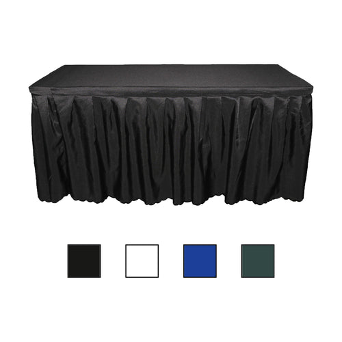 Polyester Rectangular Table Skirt Tablecloth