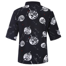 Load image into Gallery viewer, Japanese Sushi Chef Coat with Fun Pattern Unisex Restaurant Uniform