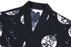 Japanese Sushi Chef Coat with Fun Pattern Unisex Restaurant Uniform