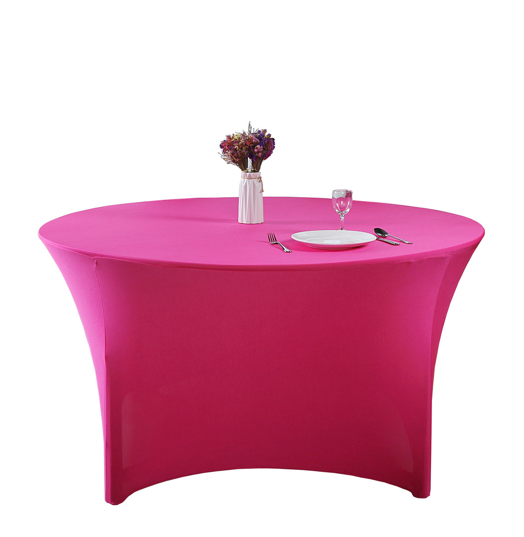 Stretch Spandex Round Tabletop  Cocktail Tablecloth
