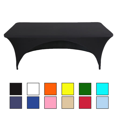 Stretch Spandex Open Back Rectangular Tablecloth