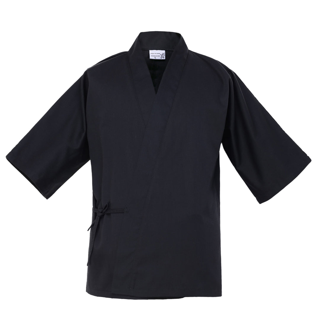 Japanese 3/4 Sleeve Chef Coat Unisex Summer Waiter Work Uniform