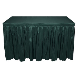 DarkGreen Polyester Table Skirt Tablecloth For Wedding Banquet Bar Trade Show Table Cover Cocktail Tablecloth