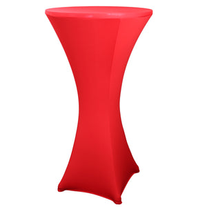 29x43 inch Cocktail Spandex Stretch Round Tablecloth Table Cover for Weddings Bars Party