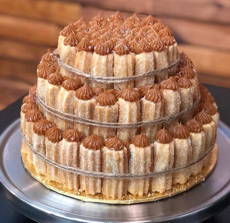 Churro Cake Specialty - 3 Tier Pick up only, choose pick up at check out