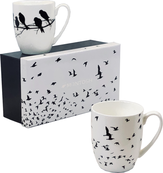 Bird Silhouette Mug Pair