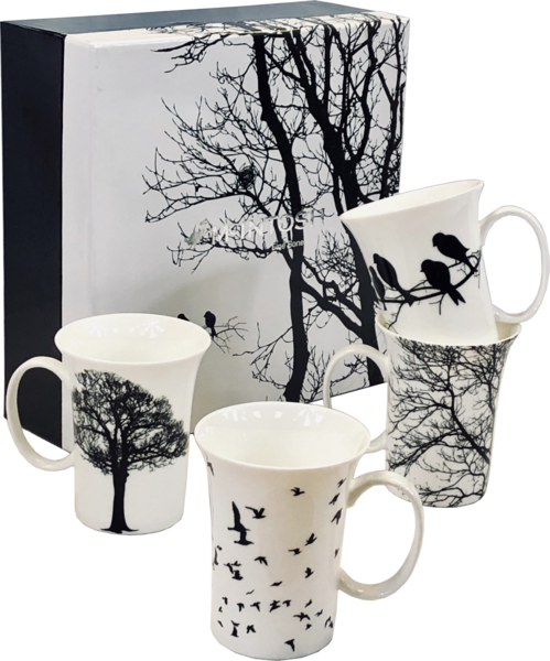 Eternal Silhouette - Set of 4 Mugs