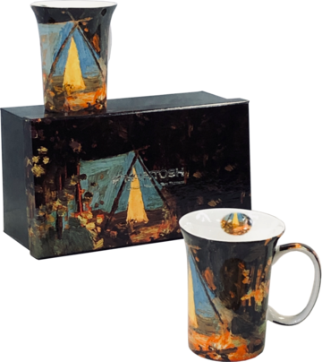 Set of two Mugs - Campfire by Canadian artist Tom Thompson
