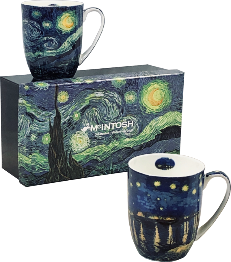 Vincent Van Gogh - Starry Nights Set of two mugs