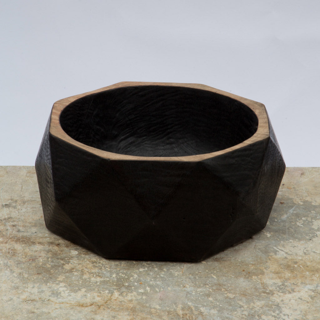 Black Saur Prism Bowl