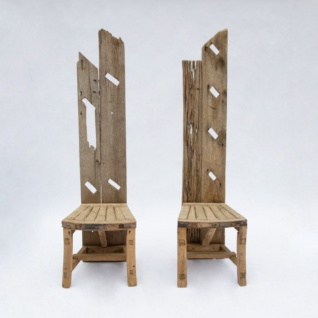 English Driftwood Table and Chairs Set