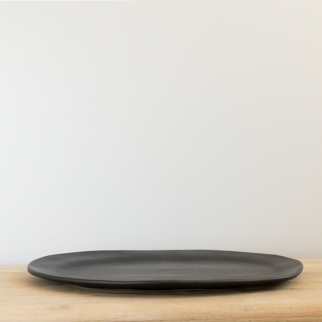 "Alex Marshall 19"" Large Oval Platter - Charcoal"