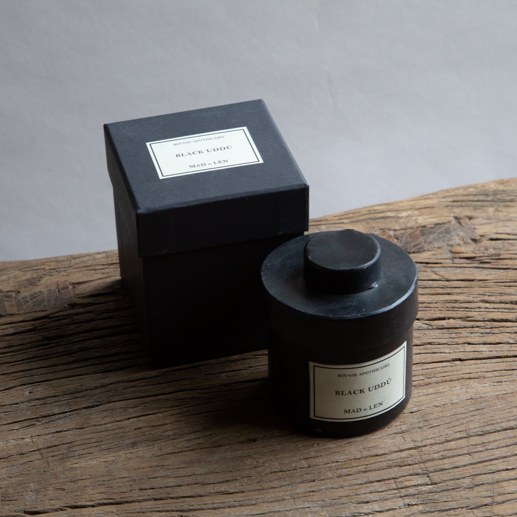 Mad et Len Small Apothicaire Candle - Black Uddu