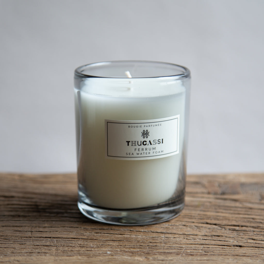 Thucassi Glass Sea Water Foam Ferrum Candle - 8oz