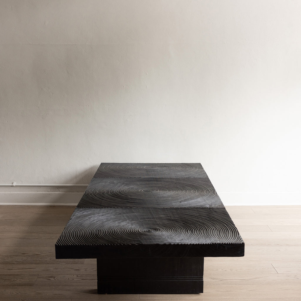 Balinese Black Circle Table