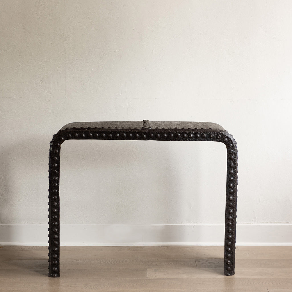 Reclaimed Cast Iron Riveted Console – c. 1920's
