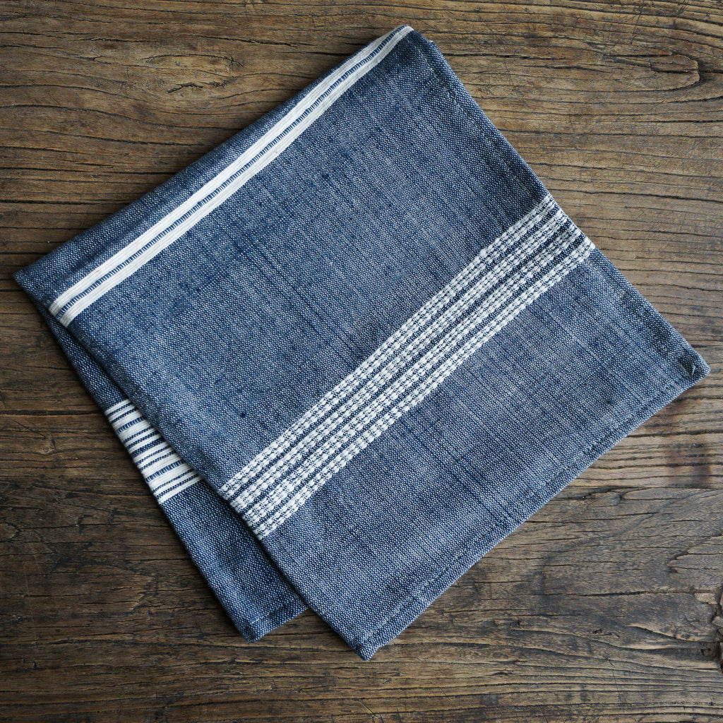 Aden Cotton Napkin - Navy
