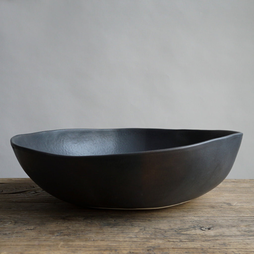 "Alex Marshall 14"" Round Bowl - Charcoal"