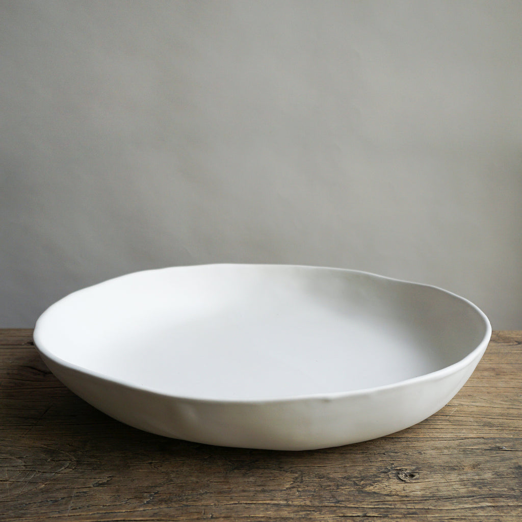 "Alex Marshall 18"" Low Bowl - Matte White"