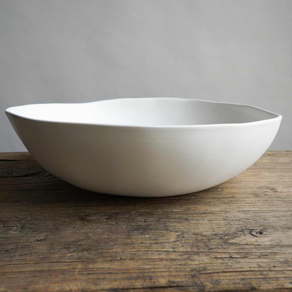 "Alex Marshall 14"" Round Bowl - Matte White"