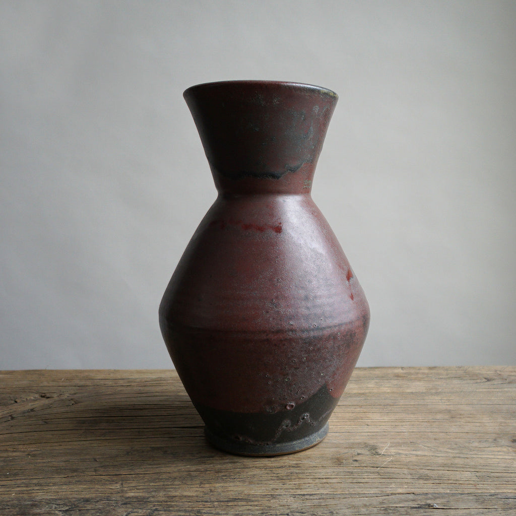 Japanese Tamba Vase - Black & Red