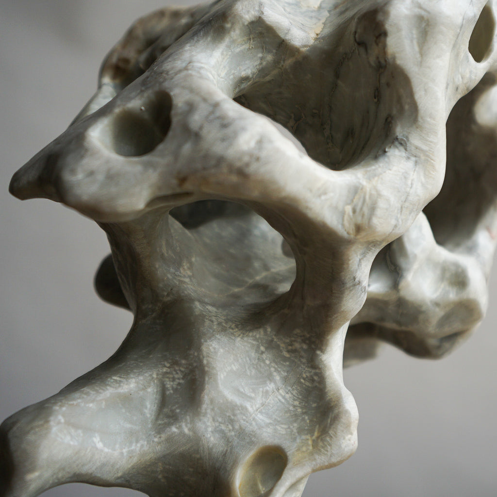 Gongshi - Volcanic Stone Sculpture - Light Grey