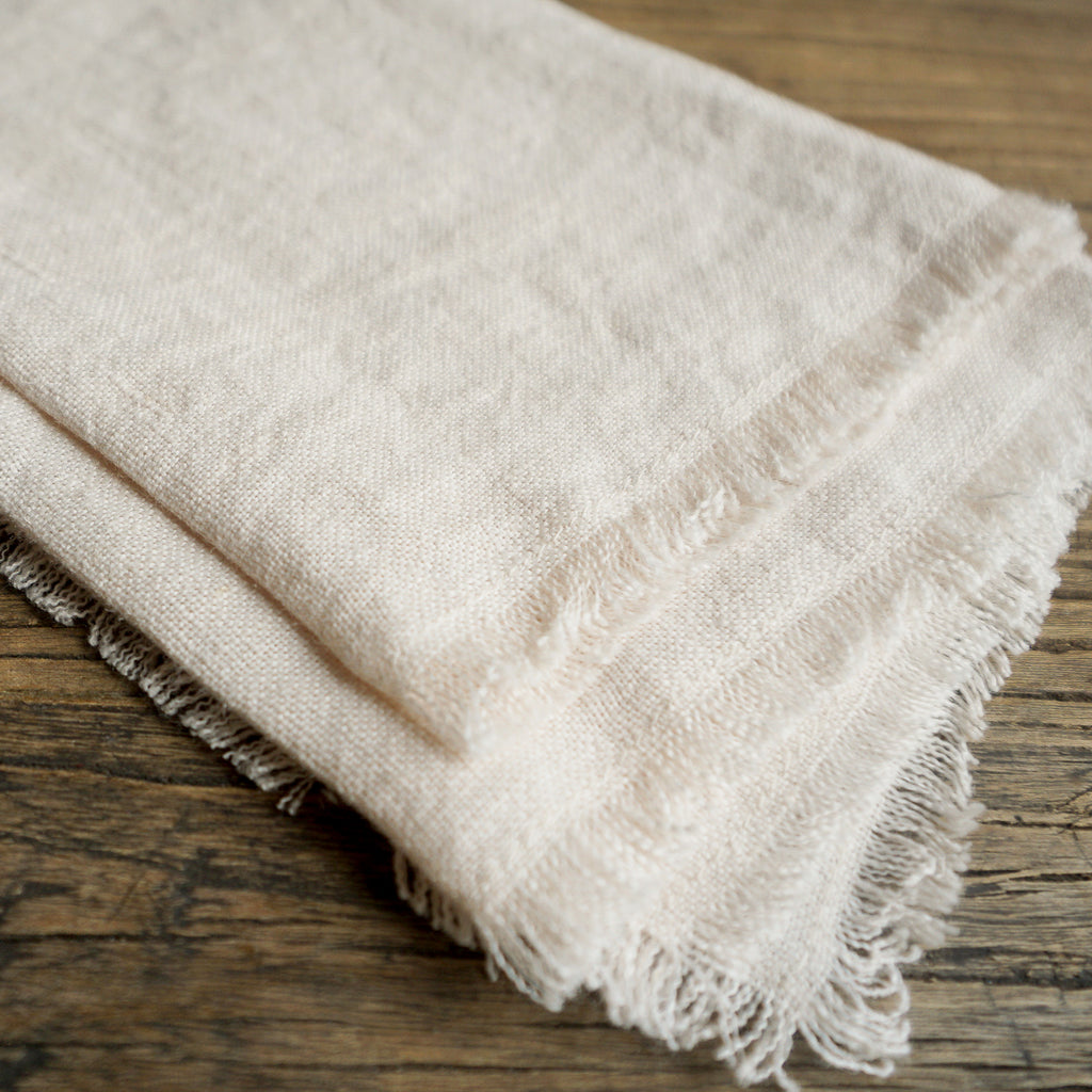 Stone Washed Linen Cocktail Napkin - Natural