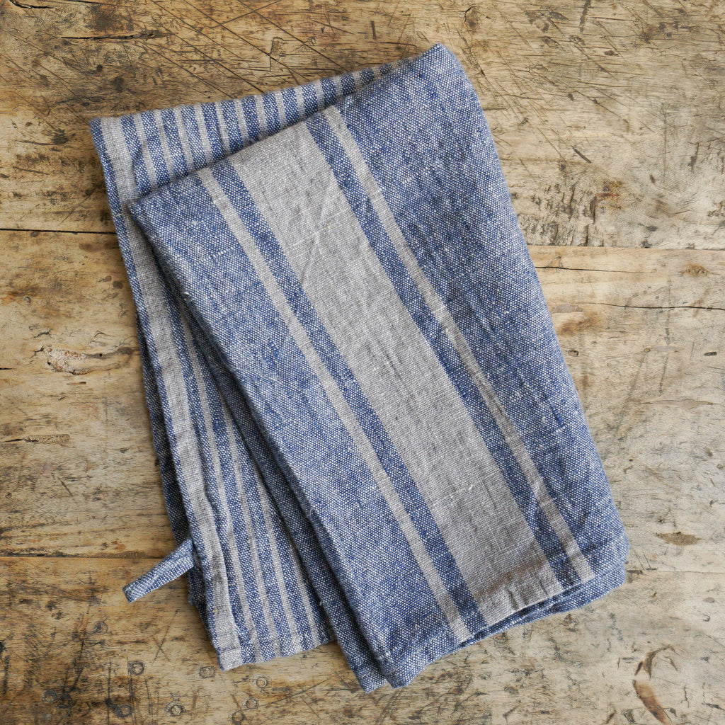 Linen Dish Towel - Blue