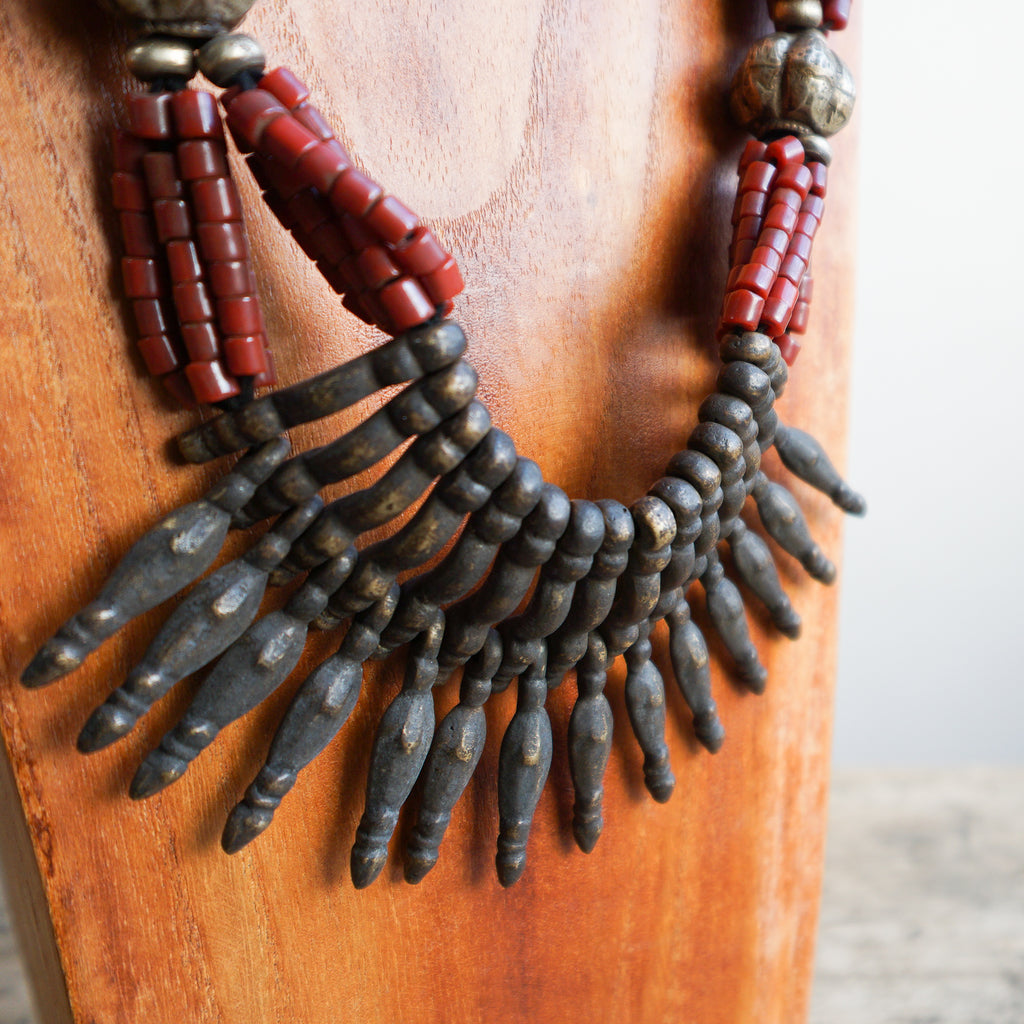 Nepalese Multi-strand Glass Bead Necklace