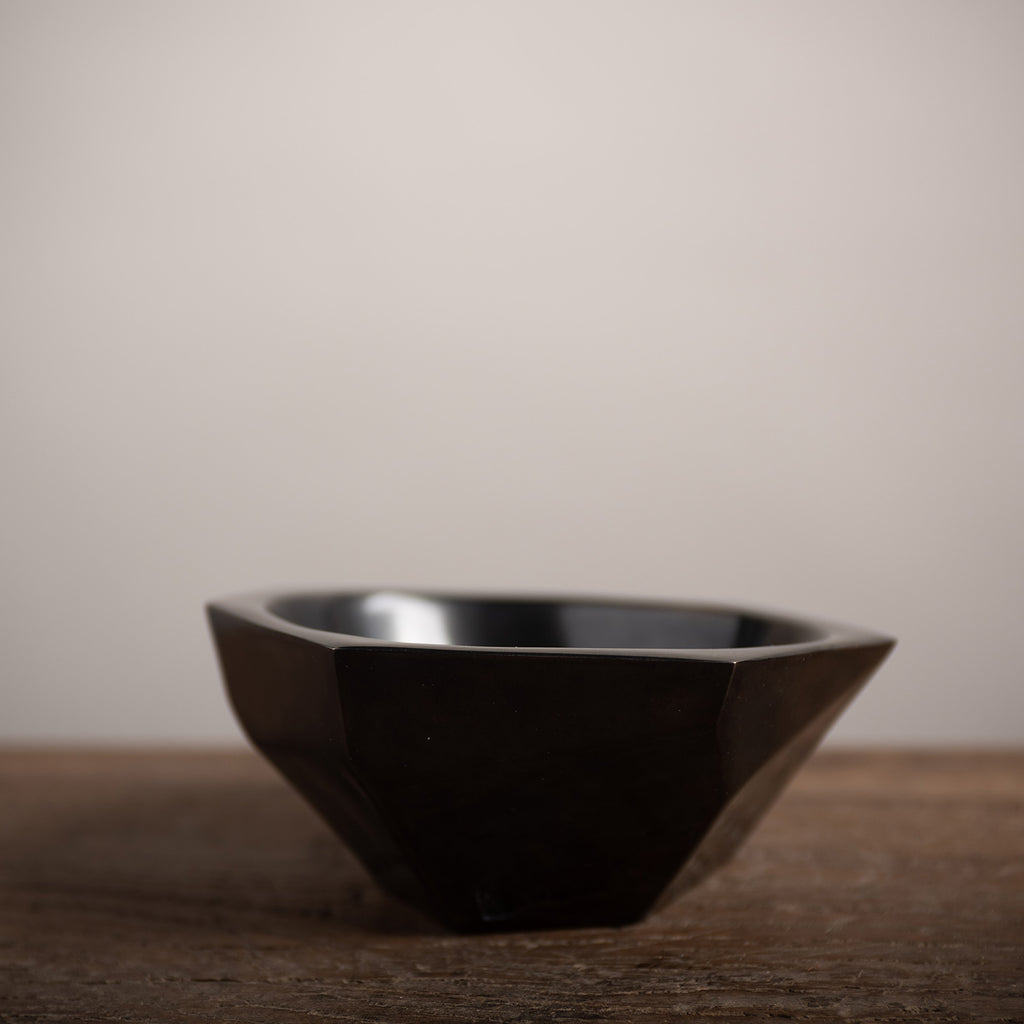 Made by Branch, Low Faceted Bowl - Black