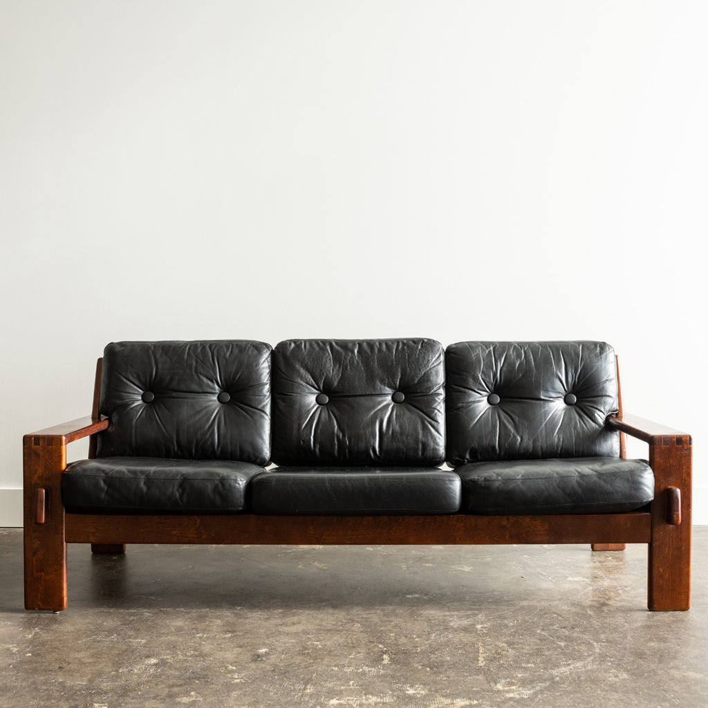 Sofa in Black Leather