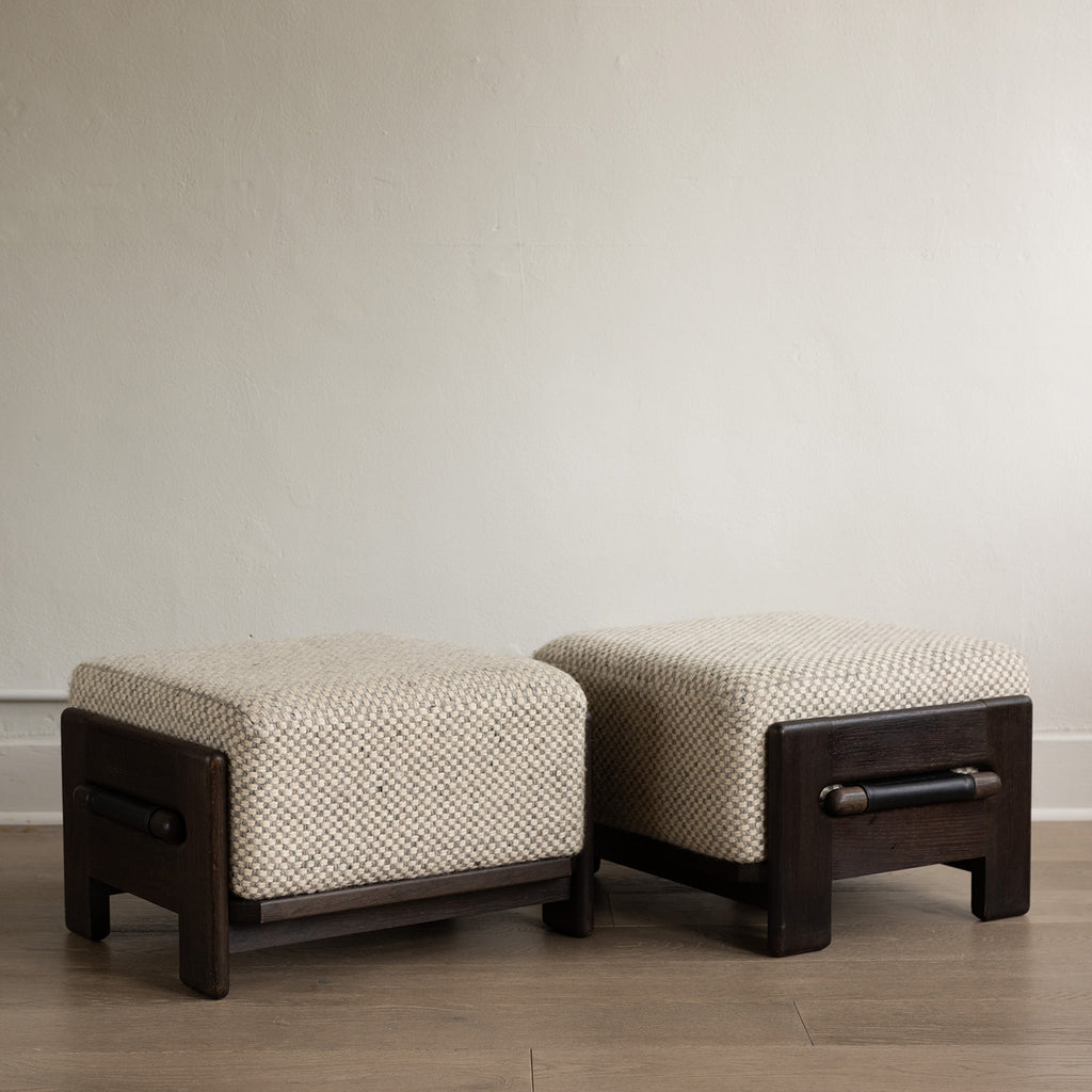 Ottomans from Guillerme & Chambron for Votre Maison - Pair