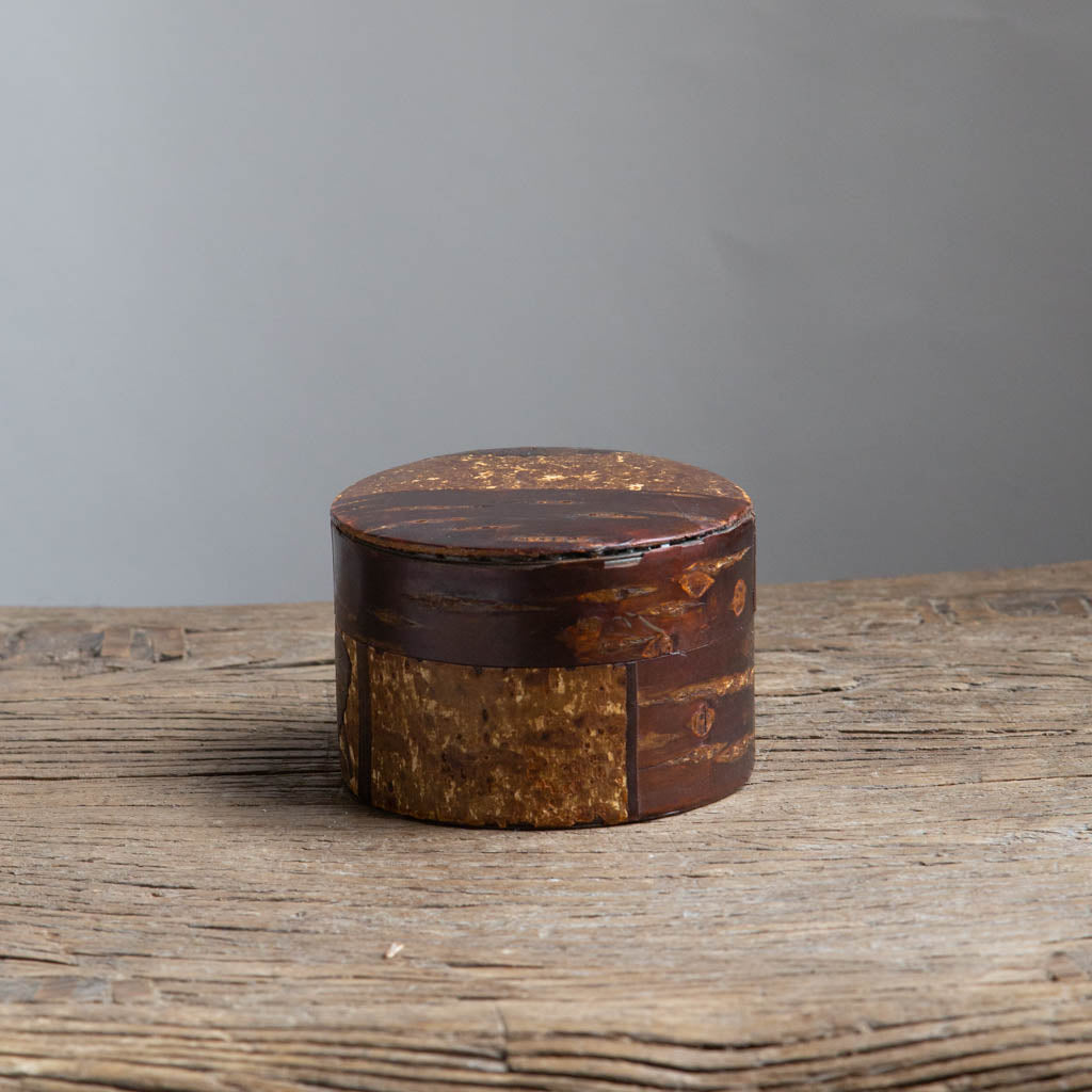 Cherry Bark Cylinder Box