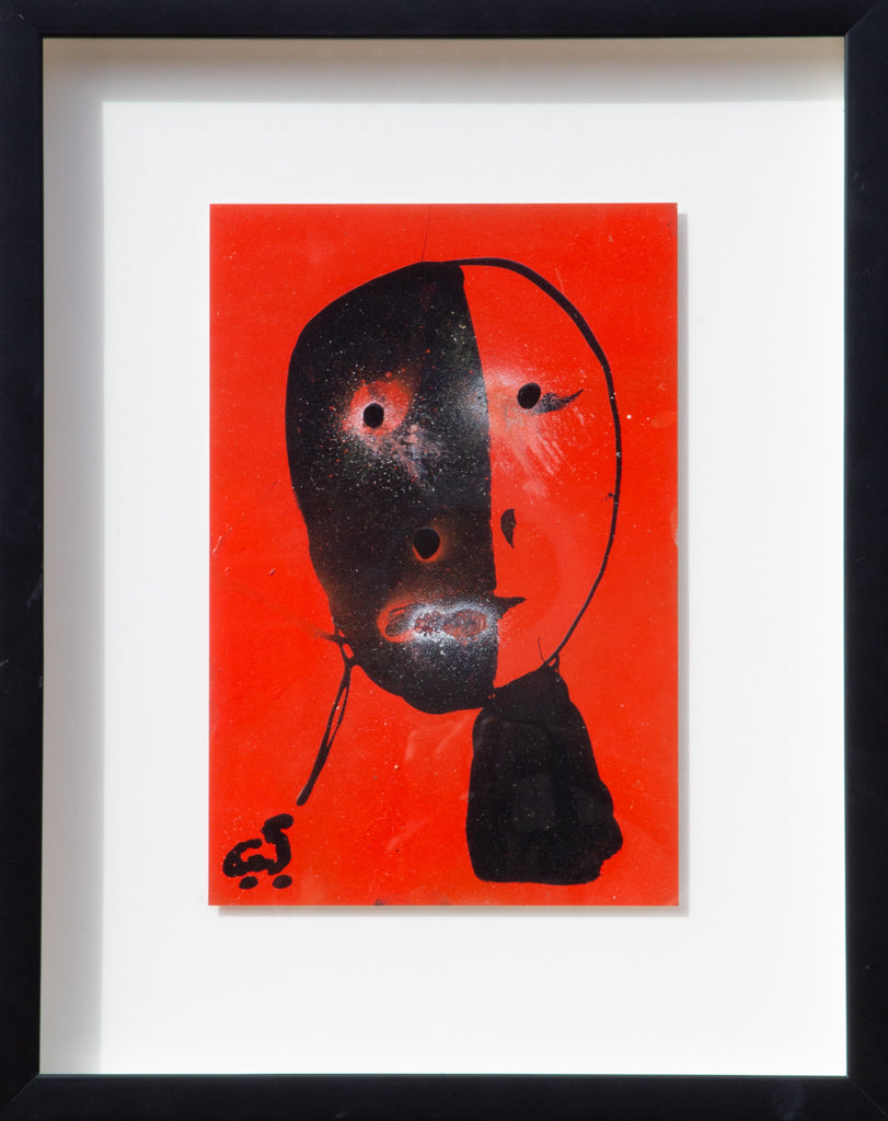 "Cyrstofer Shoemaker -  ""Abstract Orange/Black Portrait"" 2010"