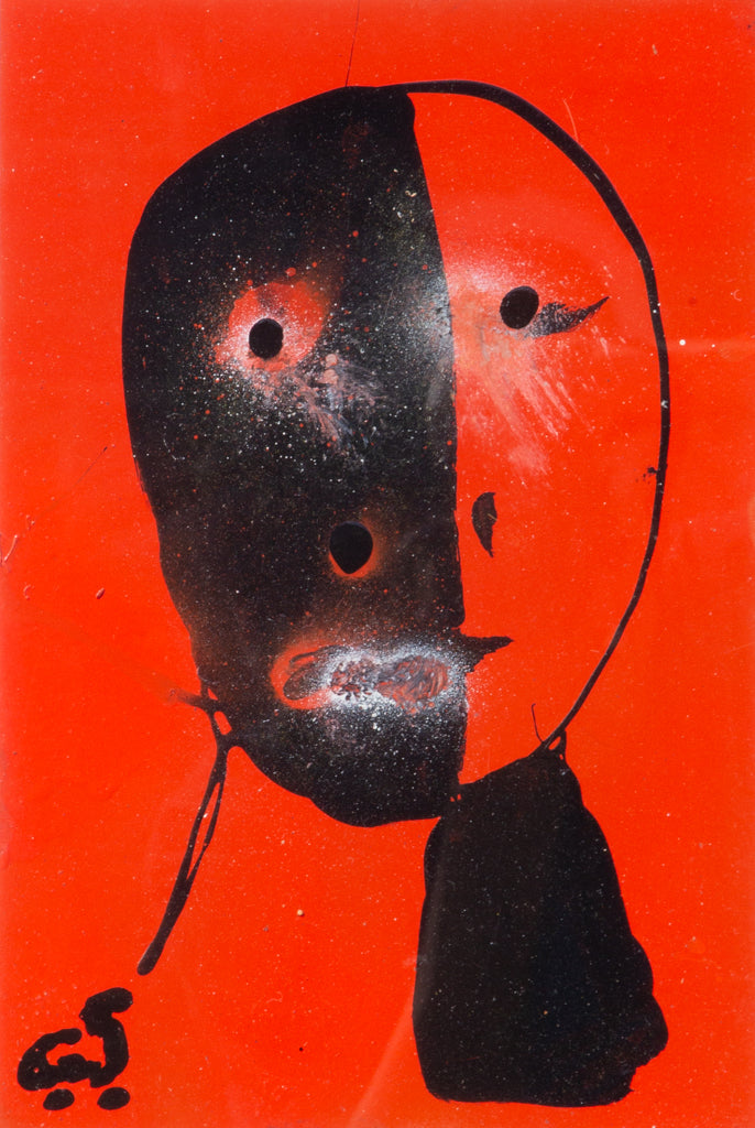 "Christopher ""Cystofer"" Shoemaker -  ""Abstract Orange/Black Portrait"" 2010"