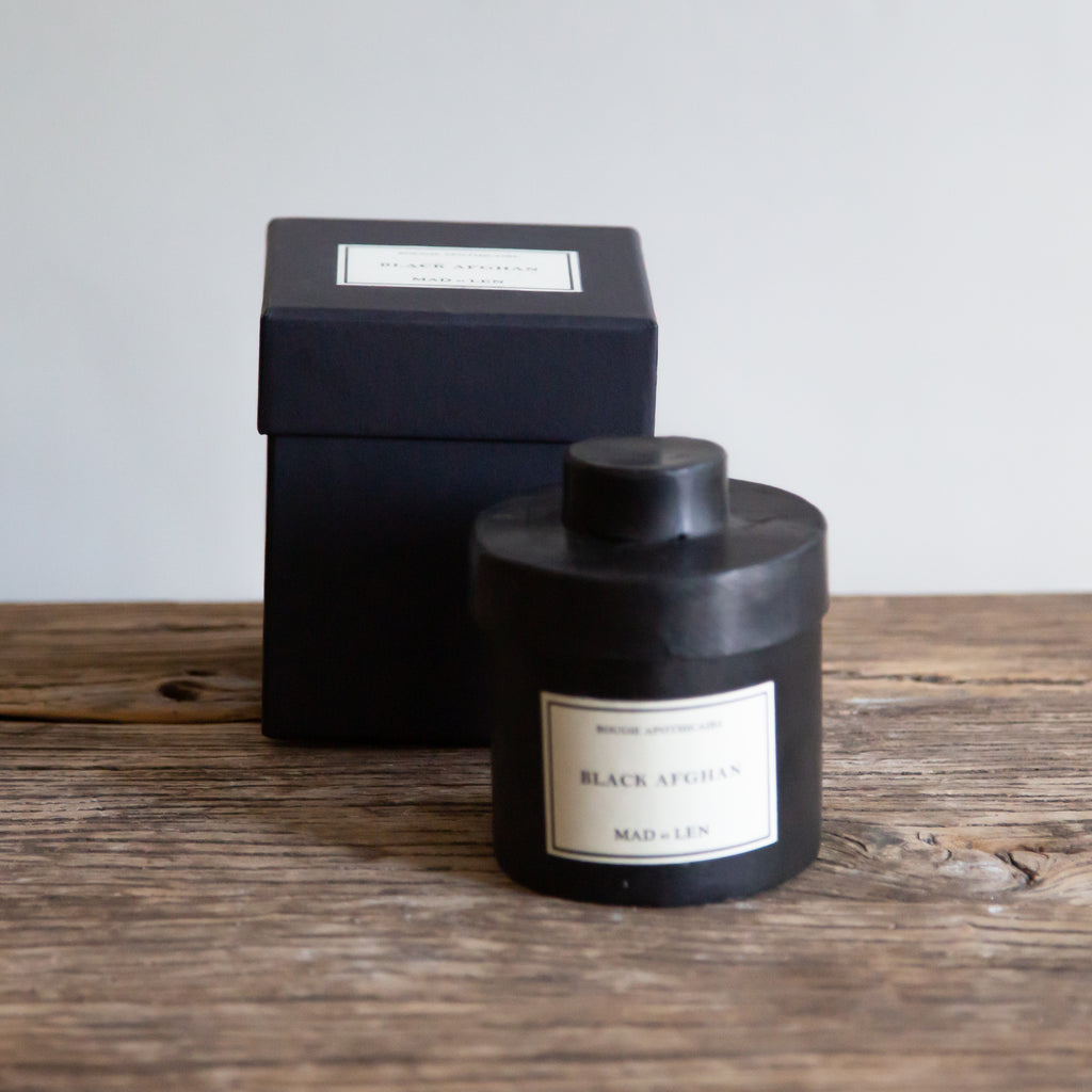 Mad et Len Small Apothicaire Candle - Black Afghan