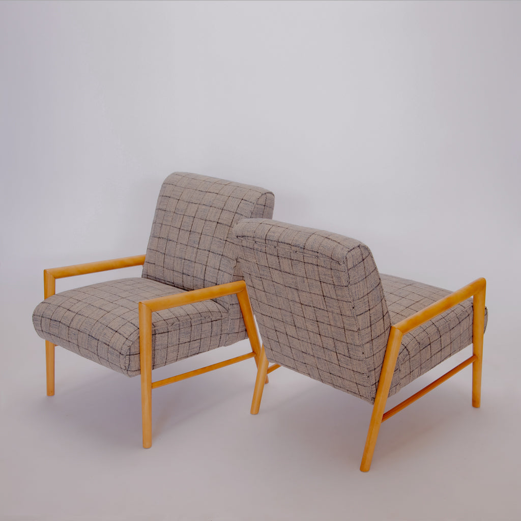 Pair Leslie Diamond for Contant Ball Chairs c. 1954