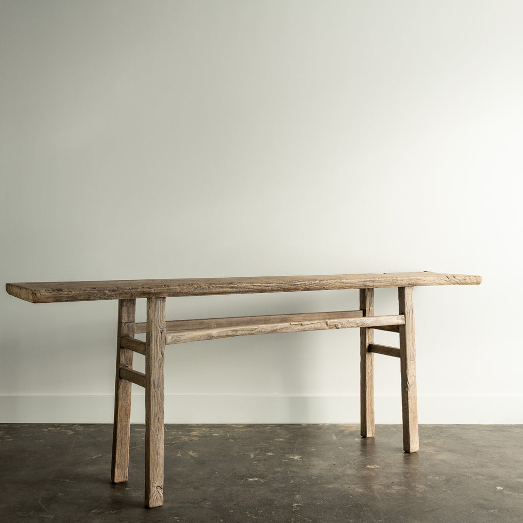 Long Elm Wood Table