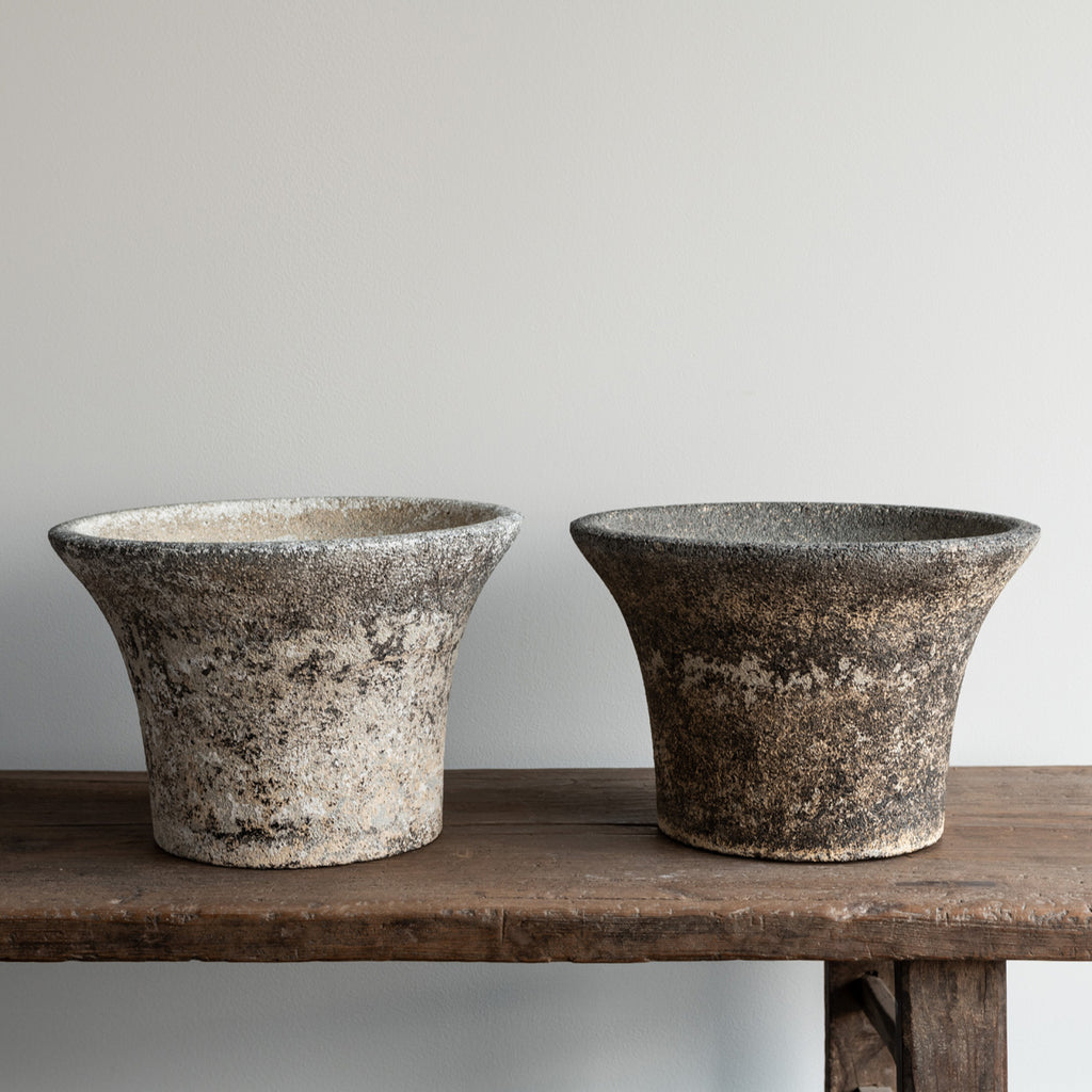 Concrete Planter, pair