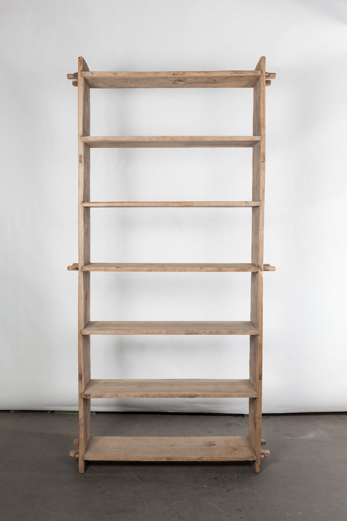 Japanese Reclaimed Elm Wood Bookcases
