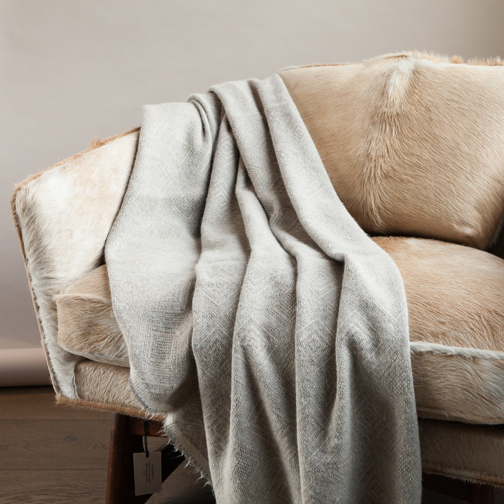 Linen and Alpaca Throw - Tacna 80