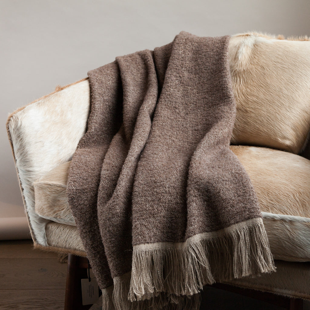 Linen and Alpaca Throw - Winters 75