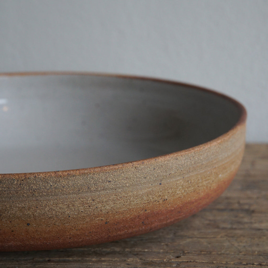 Toasted Shino Serving Bowl
