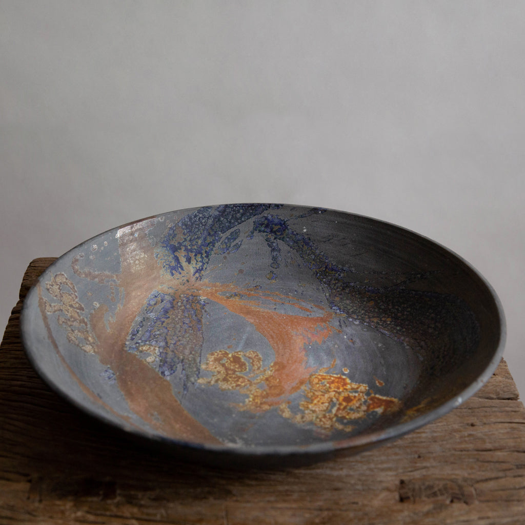 "Ngaire Hixson - ""Moonshine Bowl with Brush Work""     c.1968"