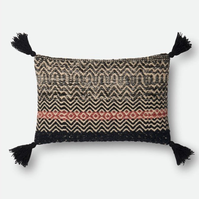 Black and Red Pillow - Lumbar