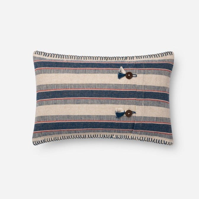 ED Indigo/Natural Pillow - Lumbar