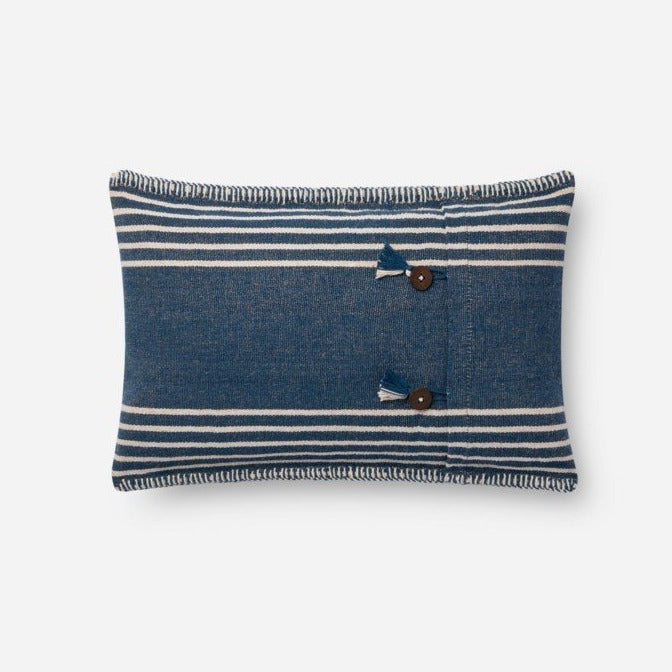 Indigo/Natural Pillow  - Lumbar